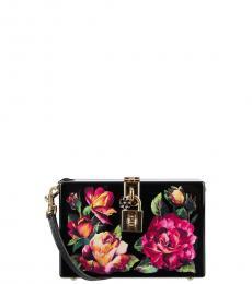 Dolce & Gabbana Black Roses Box Clutch