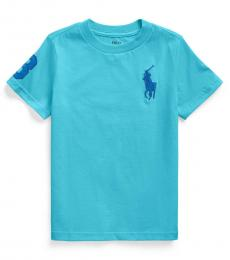 Ralph Lauren Little Boys Lindsay Blue Big Pony T-shirt