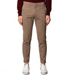Fay Beige Stretch Gabardine Pants