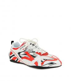 White Red Leather Sneakers