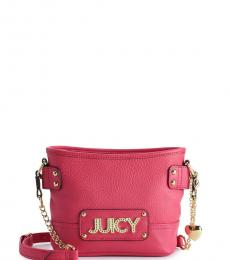 Juicy Couture Pink Logo Small Crossbody Bag
