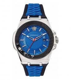 Versace Blue Black Signature Watch