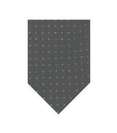 DKNY Black White Polka Dot Tie