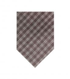 Tom Ford Grey Amethyst Purple Check Tie