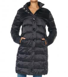 Love Moschino Black Heart Quilted Long Coat