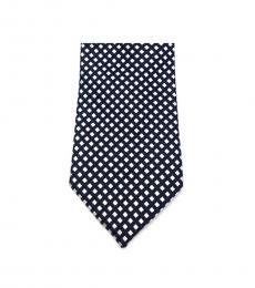 Black & White Classic Geo Slim Silk Tie