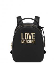 Love Moschino Black Logo Mini Backpack