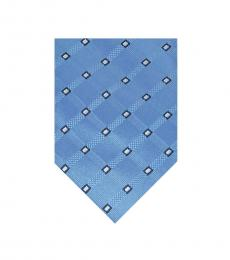 Michael Kors Blue Clara Neat Diamond Pattern Tie