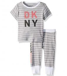 DKNY 2 Piece T-Shirt/Pajama Set (Little Girls)