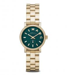 Marc Jacobs Golden Green Dial Watch