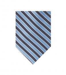 Michael Kors Cornflower Striped Pattern Tie