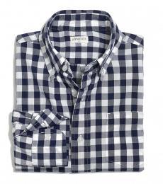 J.Crew Little Boys Authentic Navy Patterned Shirt