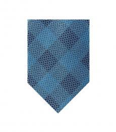 Michael Kors Turquoise Mesh Check Tie