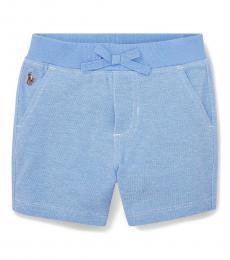 Baby Boys Harbor Island Blue Knit Oxford Shorts