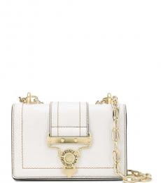 Versace Jeans Beige Front Flap Small Shoulder Bag