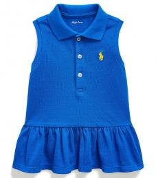 Ralph Lauren Baby Girls Cruise Royal Sleeveless Mesh Polo
