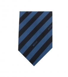 Moschino Dark Blue Logo Tie