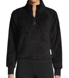 Calvin Klein Black Raglan-Sleeve Fleece Pullover