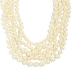 J.Crew White Multistrand Pearl Necklace