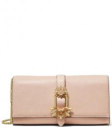 Pink Bellamie Buckle Medium Shoulder Bag