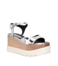 Silver Star Embellished Platform Sandals