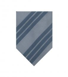 Moschino Dark Blue Stripe Tie