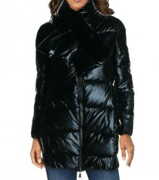 Juicy Couture Black Quilted Down Jacket
