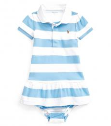 Baby Girls Chatham Blue Striped Rugby Dress