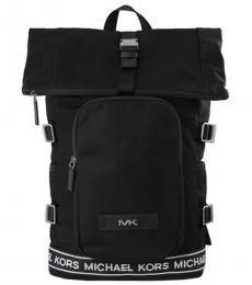 Michael Kors Black Kent Sport Roll Top Large Backpack