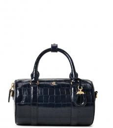 Ralph Lauren Navy Textured Mini Satchel