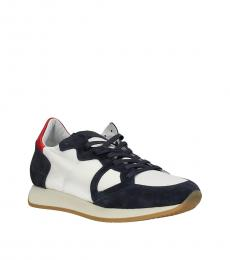 Philippe Model White Dark Blue Sporty Sneakers