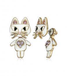Betsey Johnson Off White Mini Critters Earrings