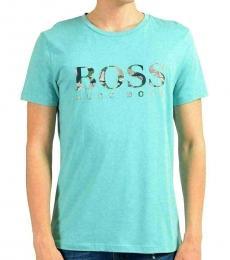 Hugo Boss Turquoise Graphic Crewneck T-Shirt