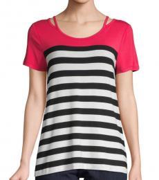 Multicolor Multi Striped Short-Sleeve Top