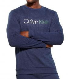 Calvin Klein Blue Immerge Long Sleeve Sweatshirt