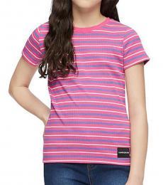 Calvin Klein Little Girls Cabaret Striped T-Shirt