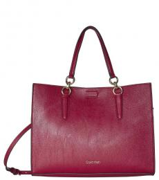Calvin Klein Country Red Reversible East/West Large Tote