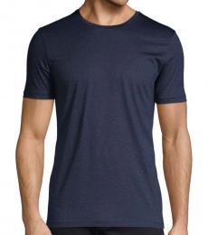Navy Tessler Slim-Fit Cotton T-Shirt