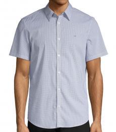 Light Blue Printed Short-Sleeve Shirt