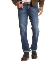 True Religion Dark Blue Ricky Relaxed Straight Jeans