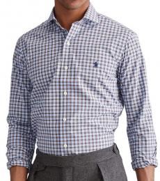 Blue Mocha Classic Fit Plaid Poplin Shirt