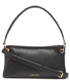 Calvin Klein Black Raya Medium Shoulder Bag