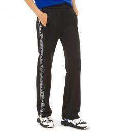 Michael Kors Black Logo Tape Ponte Track Pants