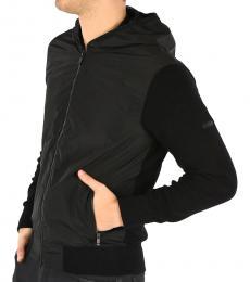 Ermenegildo Zegna Black Classic Hoodie Jacket