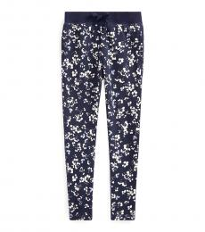 Little Girls Thames Floral Terry Pants