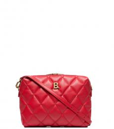 Red Quilted Camera Small Crossbody