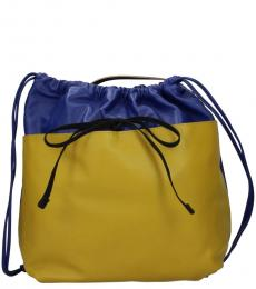 Marni Blue/Lemon Drawstring Large Backpack