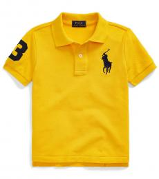 Little Boys Slicker Yellow Big Pony Polo
