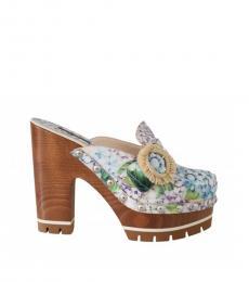 Multicolor Floral Ortensia Heels