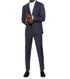 Dark Blue G Line Check Suit